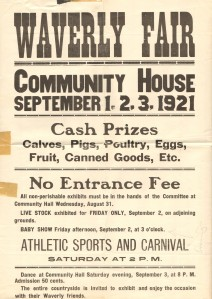 Waverly Fair Poster 1921